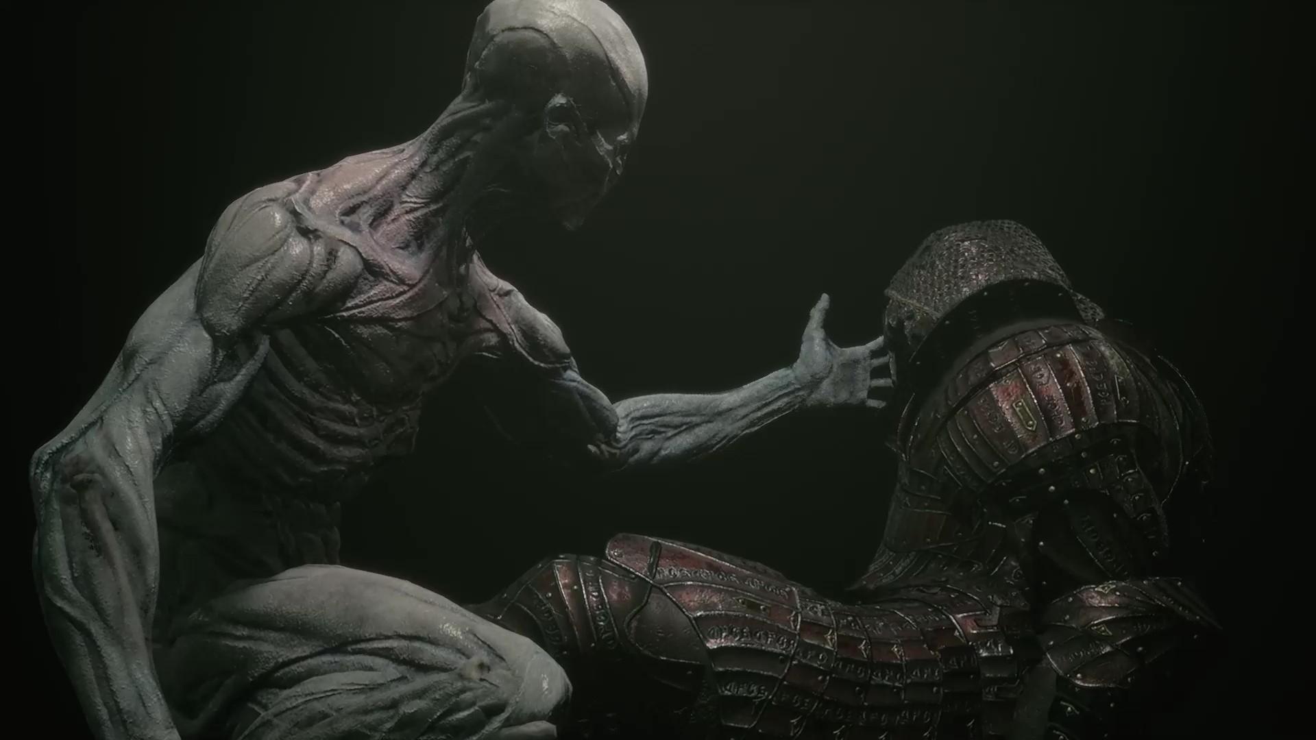 El personaje del jugador extiende su mano hacia Solomon's Shell.