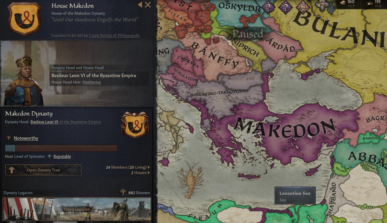 Un mapa del territorio que muestra el alcance de Makedon, que está aproximadamente en línea con la Grecia y Turquía modernas.