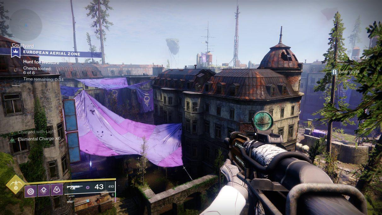 Rebotando por la EAZ en Destiny 2.
