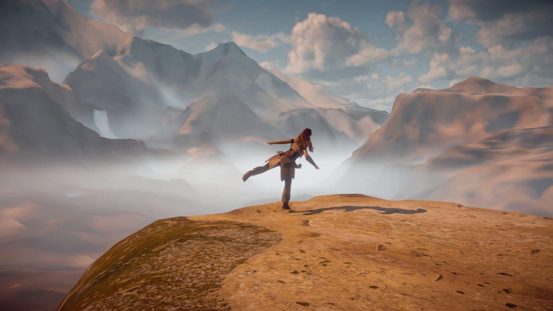 Una captura de pantalla del fallido mundo de Horizon Zero Dawn.