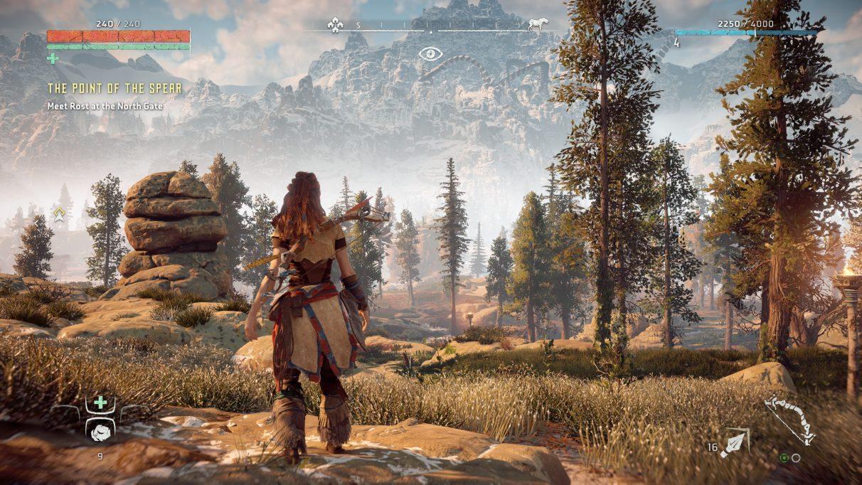 Una captura de pantalla de Horizon Zero Dawn en la configuración de gráficos de Ultimate Quality