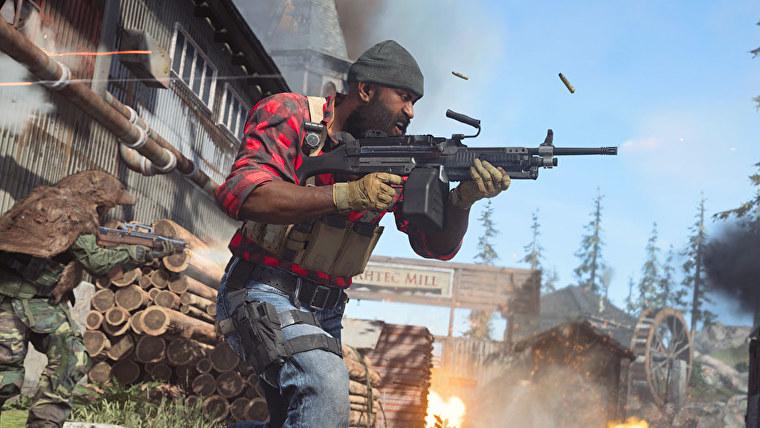 Un leñador balancea su Bruen en una captura de pantalla de Call Of Duty.