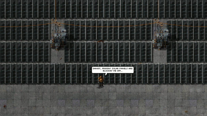 Captura de pantalla tomada de la página Squeak Through en Factorio Mod Portal.