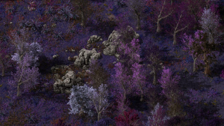 Captura de pantalla tomada de la página Alien Biomes en Factorio Mod Portal.