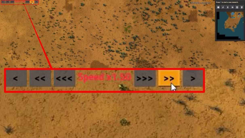 El mod Speed Control Factorio te ofrece una superposición útil con la que puedes controlar la velocidad del juego.
