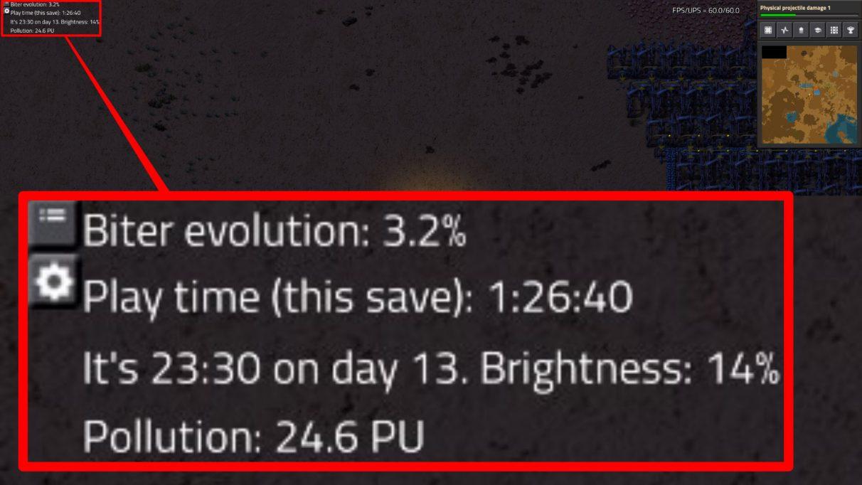 EvoGUI te permite ver, entre otras cosas, la tasa de evolución actual de Biter.