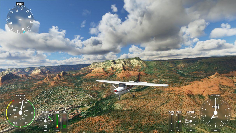 Una captura de pantalla de Microsoft Flight Simulator 2020 en su configuración de gráficos de alta gama