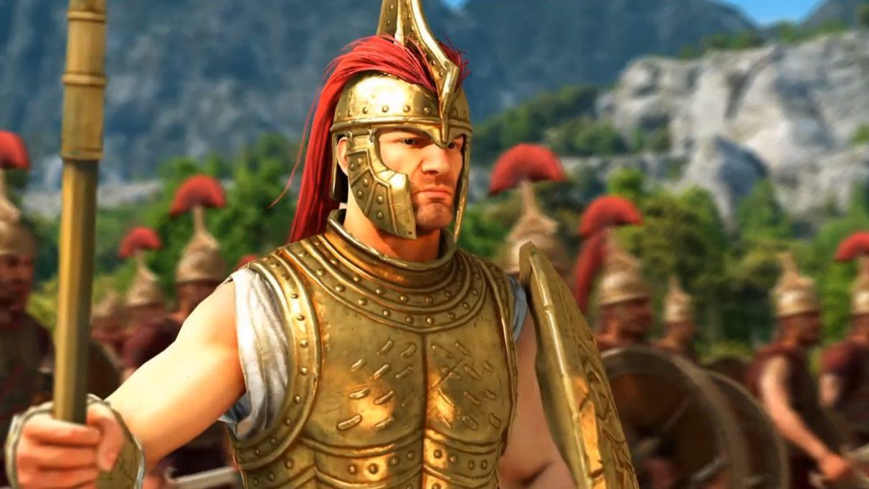 Un guerrero de la edad de bronce muy cruzado