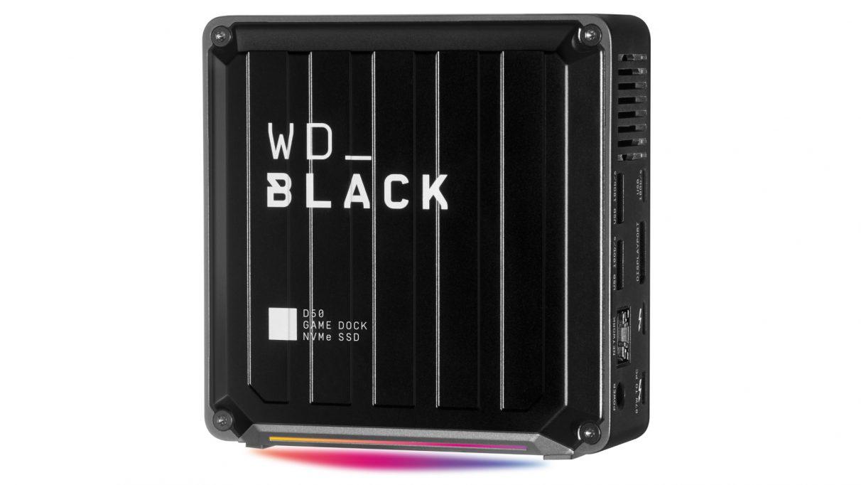 Una imagen del nuevo SSD Black D50 Game Dock de WD