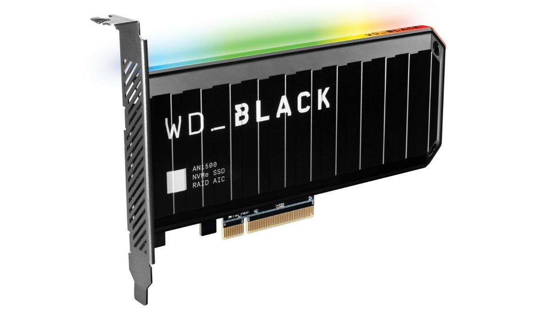 Una imagen de la nueva tarjeta SSD negra AN1500 de WD.