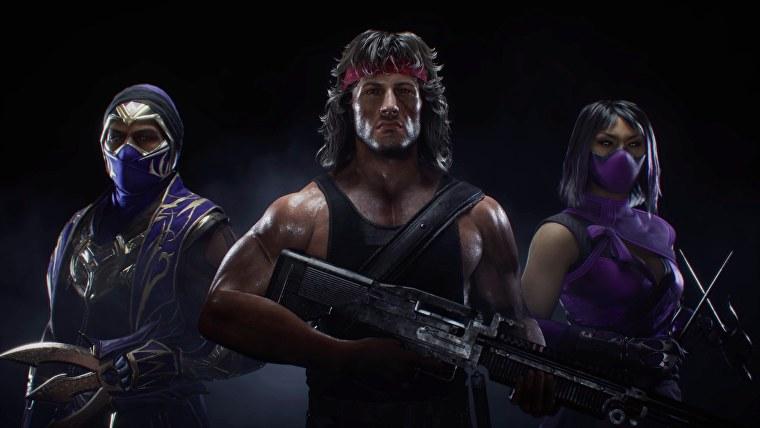 Mileena, Rambo y Rain en Mortal Kombat 11 Ultimate.