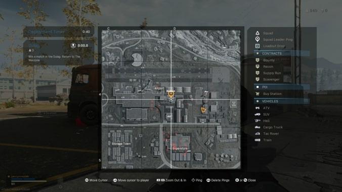 mapa de la estación de metro del aeropuerto en Call of Duty Warzone