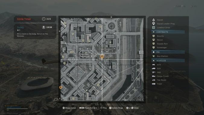 Estación de metro en el centro de Call of Duty Warzone